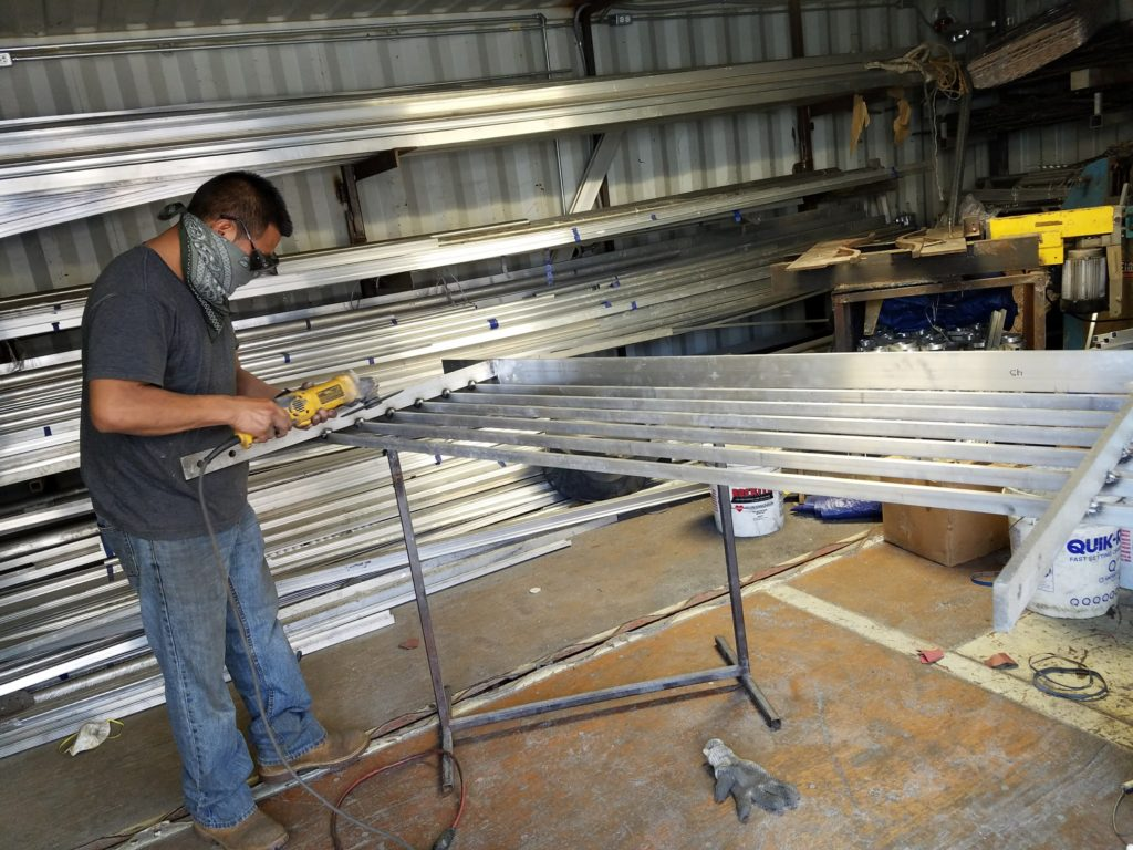 Finishing of Ornamental Aluminum Rails