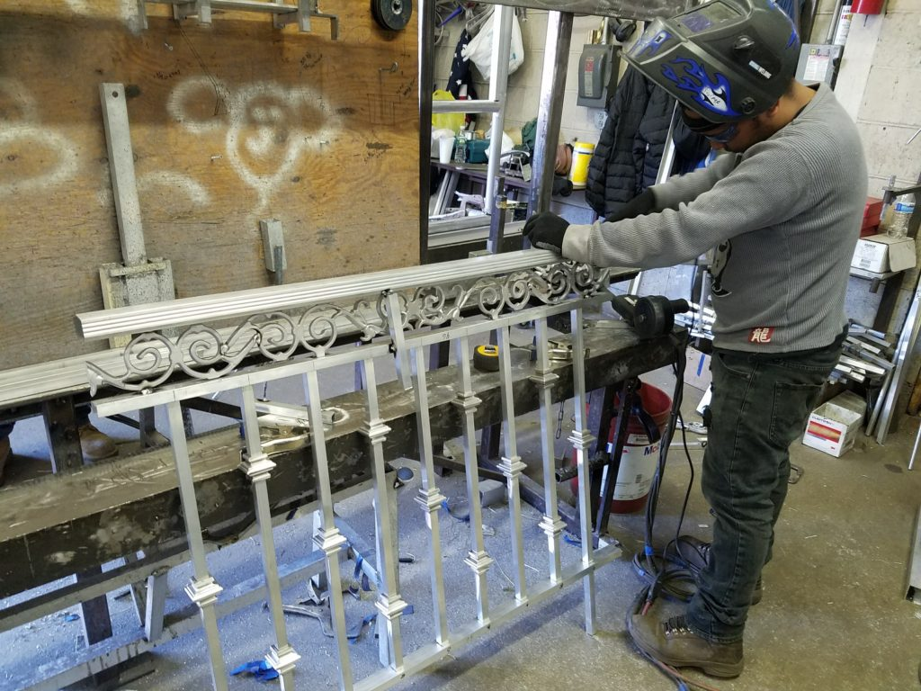 Ornamental Aluminum Rail  Fabrication